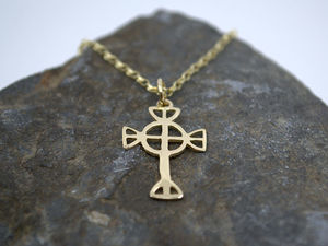 A picture of '9ct Gold Small Tydfil Cross Pendant'