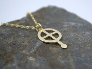 A picture of '9ct Gold Small St Non Cross Pendant'
