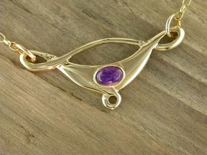 A picture of '9ct Gold Small Rhaeadr Necklet'