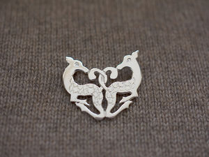 A picture of 'Silver Cwm Cych Deer Brooch'