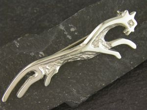 A picture of 'Silver White Horse Brooch'