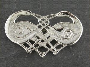 A picture of 'Silver Herons Brooch'