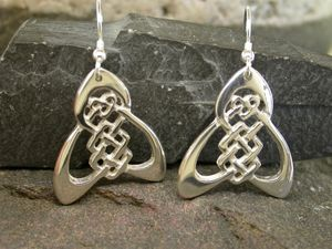 A picture of 'Silver Trinity Knot Earrings'