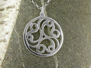 A picture of 'Silver Talyllyn Triskele Pendant'