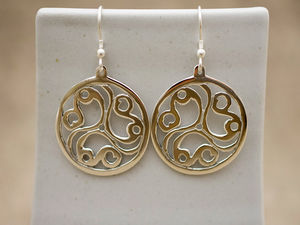 A picture of 'Silver Talyllyn Triskele Earrings'