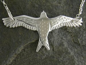 A picture of 'Silver Red Kite Necklet'