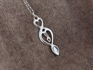 A picture of 'Silver Triple Love-spoon Pendant'
