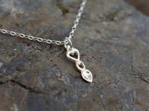 A picture of 'Silver Heart Love-spoon Pendant'