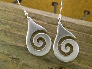 A picture of 'Silver Large Breakers Earrings'