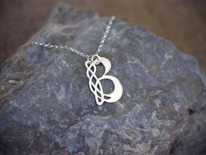 A picture of 'Silver Pendant - Initial B'