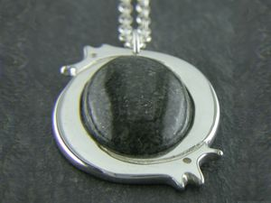 A picture of 'Silver Large Preseli Dragon Pendant'
