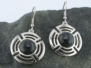 A picture of 'Silver Preseli Planetary Earrings'
