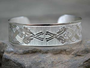 A picture of 'Silver Wolfhounds Bangle'