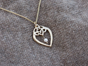 A picture of '9ct Rhiannon Welsh Gold Calon Segur Pendant'