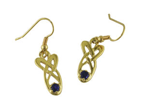 A picture of '9ct Rhiannon Welsh Gold Mererid Earrings'