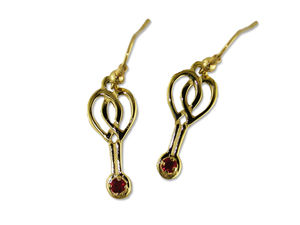 A picture of '9ct Rhiannon Welsh Gold Rosina Earrings'