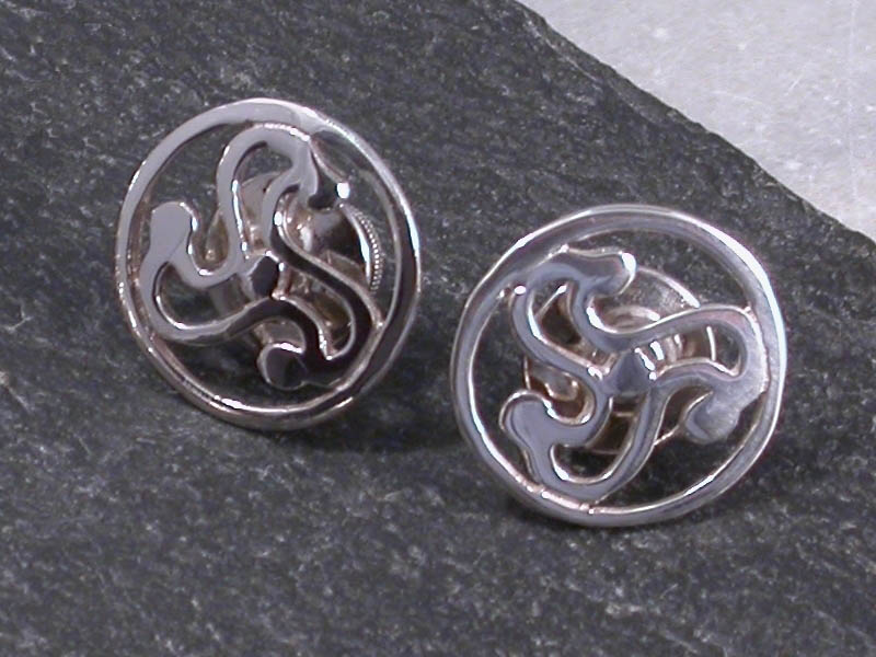 A picture of 'Silver Anglia Triskele Cufflinks'