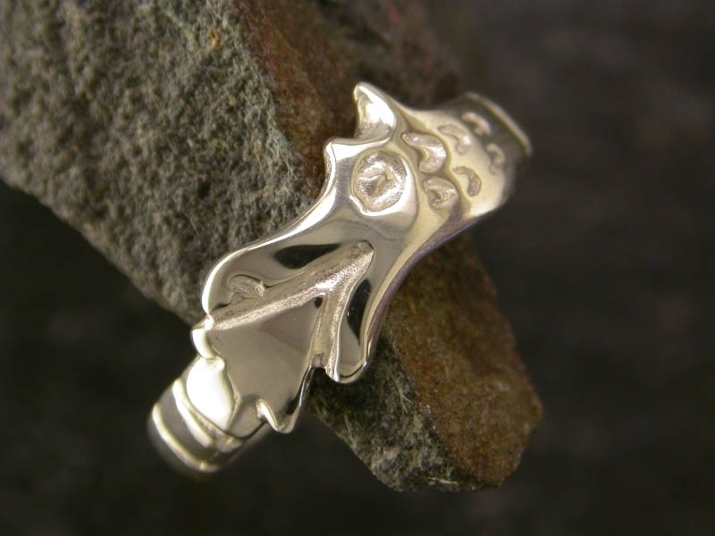 A picture of 'Silver Circle Dragon Ring'