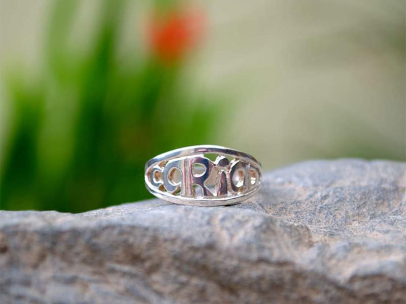 A picture of 'Silver Cariad Ring'