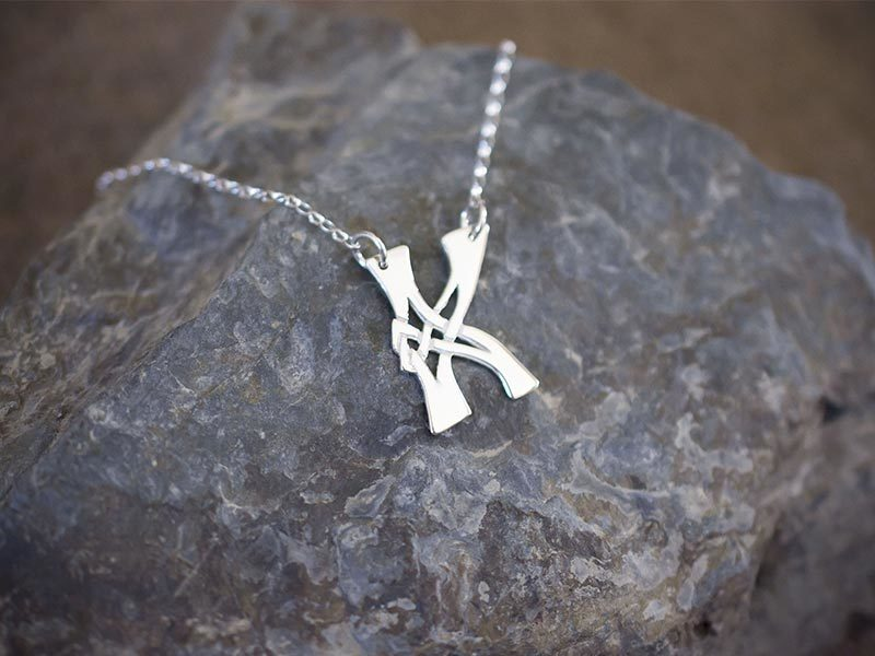 A picture of 'Silver Pendant - Initial K'