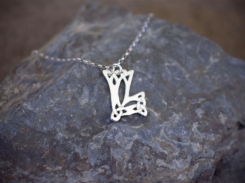 A picture of 'Silver Pendant - Initial LL'