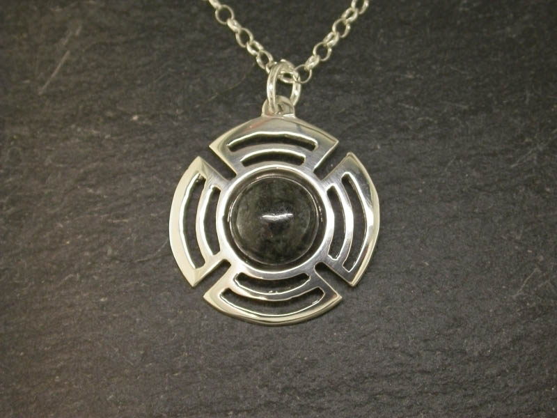 A picture of 'Silver Preseli Planetary Pendant'