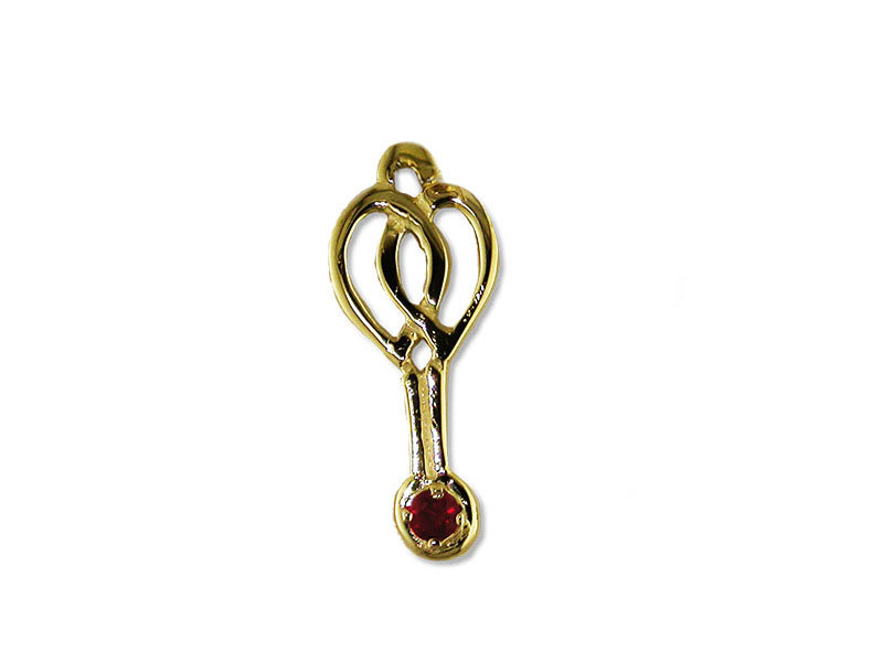 A picture of '18ct Rhiannon Welsh Gold Rosina Pendant'