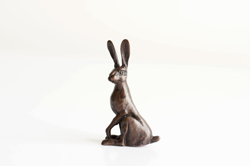 A picture of 'Miniature Bronze Hare Sitting''