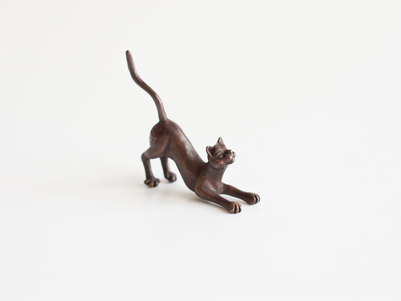 A picture of 'Miniature Bronze Crouching Cat''