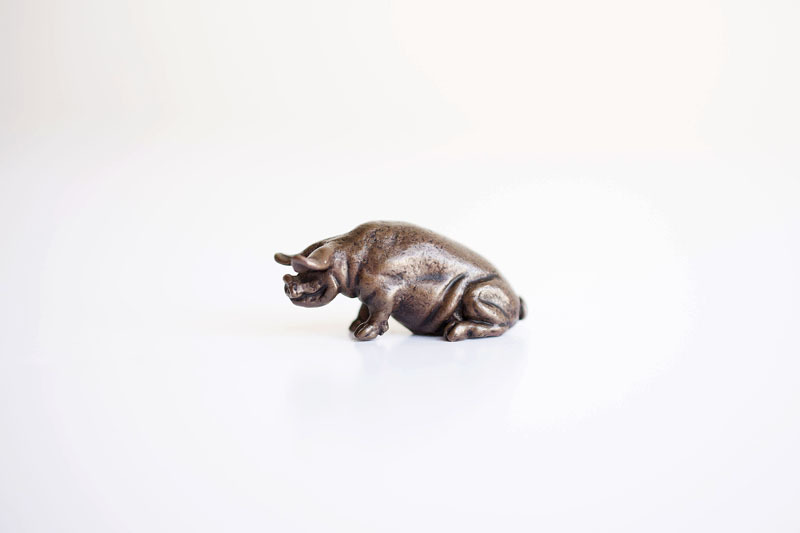 A picture of 'Miniature Bronze Pig''
