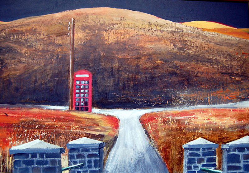 A picture of 'Lonely Kiosk, Cambrian Mountains''