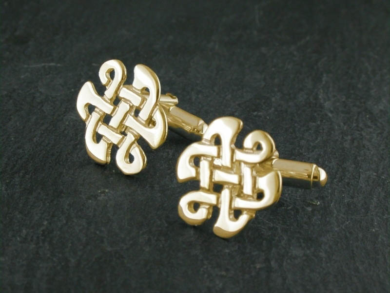 A picture of '18ct Gold Celtic Knot Cufflinks''