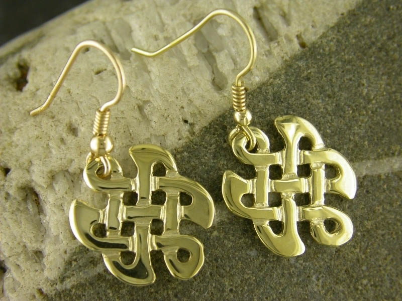 18ct Gold Celtic Knot Earrings