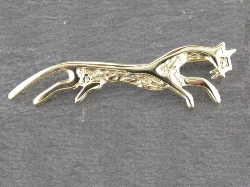 9ct Gold White Horse Brooch