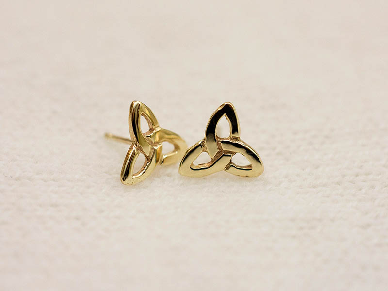 18ct Gold Small Triple Knot Earstuds
