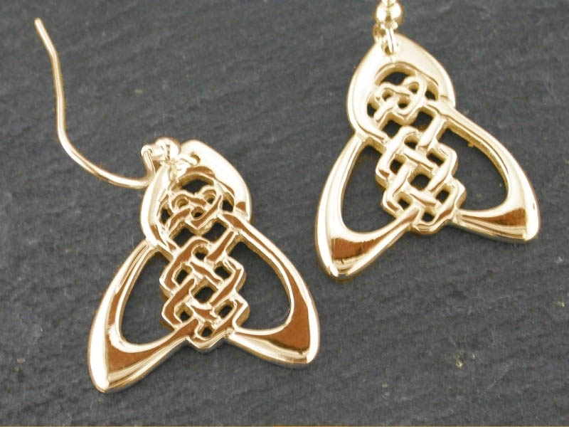 A picture of '18ct Gold Trinity Knot Earrings''