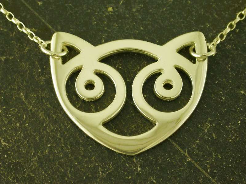 A picture of '18ct Gold Snowdon Cat Necklet''