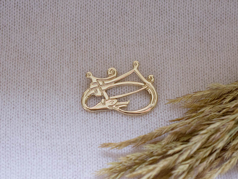 A picture of '18ct Gold Rhigyfarch Brooch''