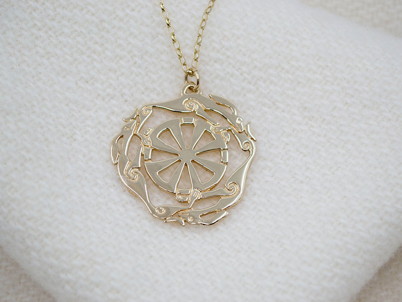 A picture of '9ct Gold Melangell Pendant''