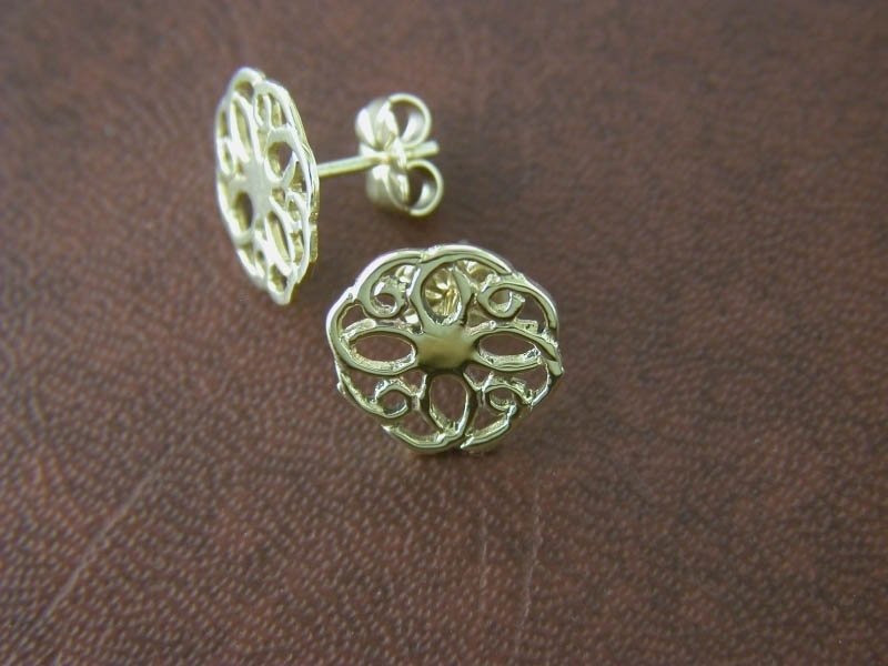 18ct Gold Summer Rose Earstuds