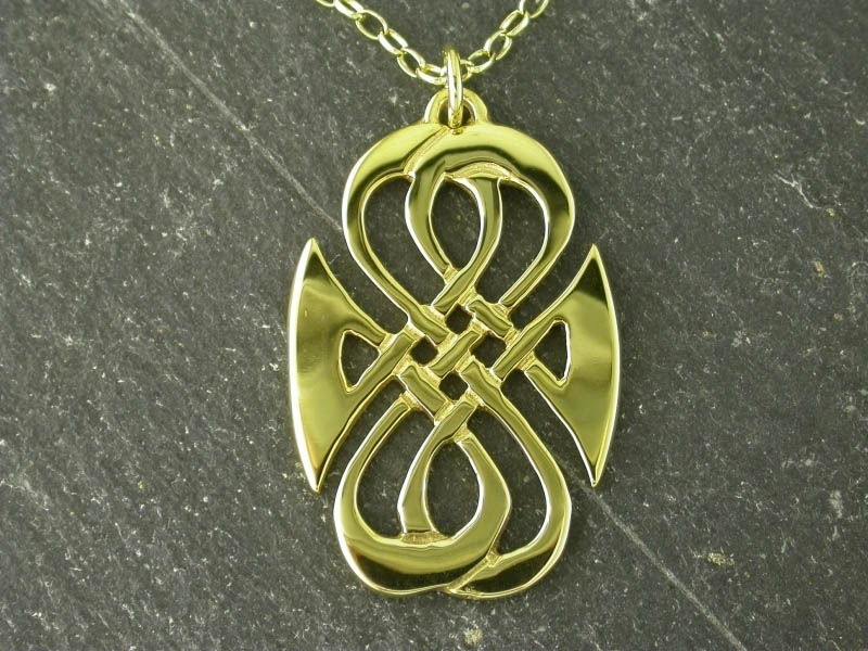 9ct Gold Seaside Pendant
