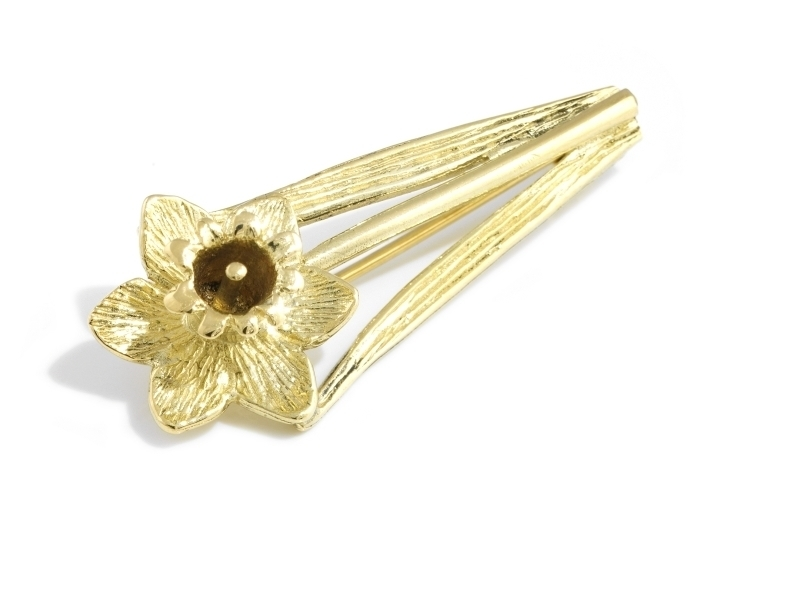 A picture of '18ct Gold Daffodil Brooch''