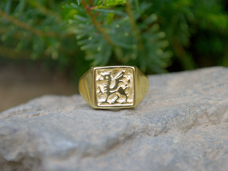 A picture of '9ct Gold Welsh Dragon Ring''