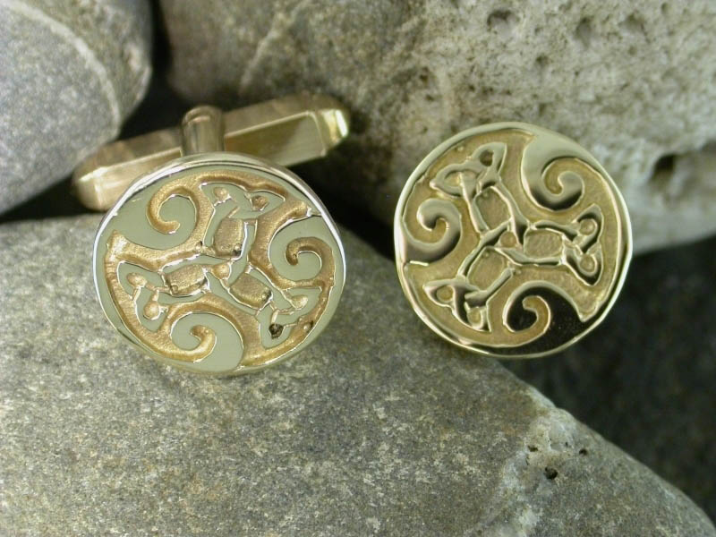 A picture of '9ct Gold Dylan Cufflinks''