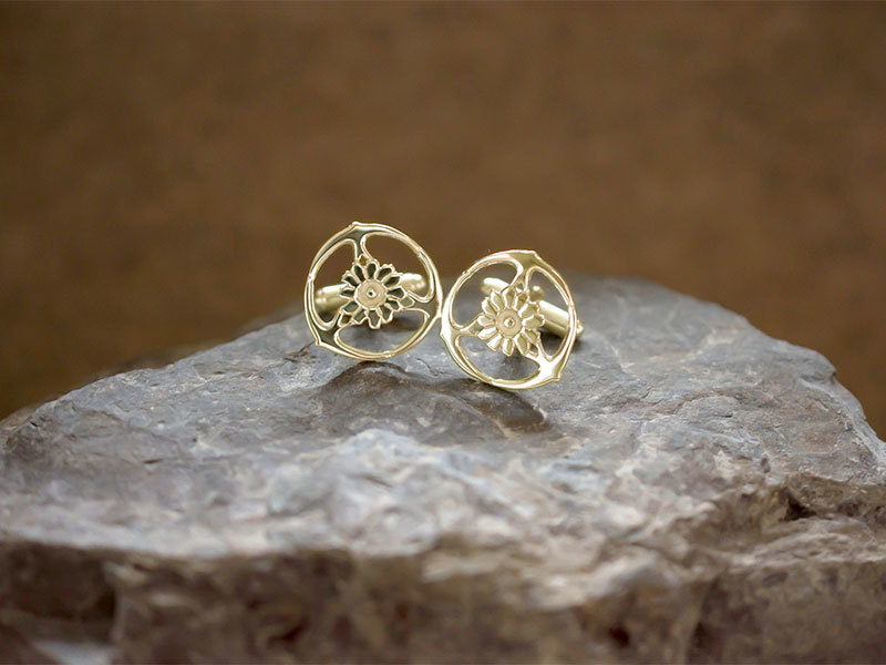 9ct Gold Gorsedd of Birds Cufflinks