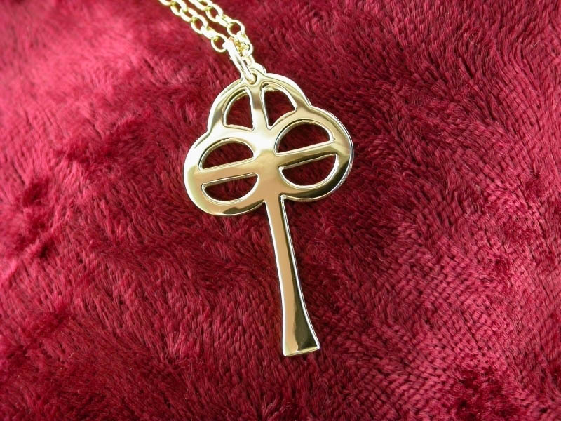 A picture of '18ct Gold St Caron Cross Pendant''