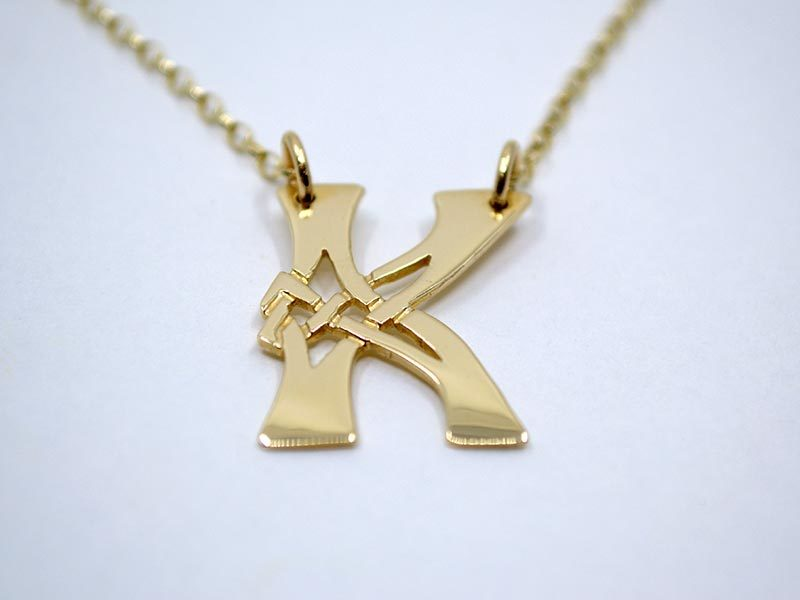 A picture of '18ct Gold Pendant - Initial K''