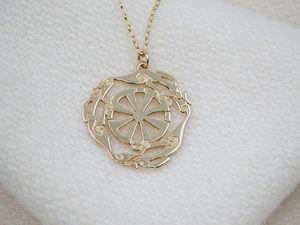 9ct Gold Melangell Pendant