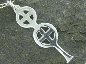Silver St Berian Cross Pendant
