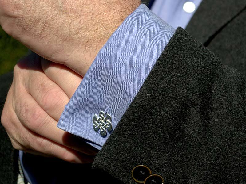 A picture of 'Silver Celtic Knot Cufflinks''